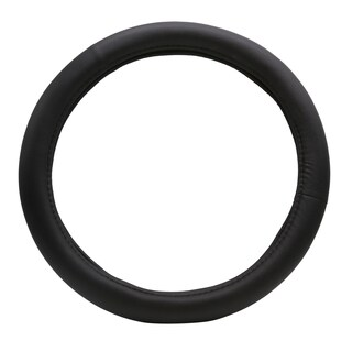 "Fit 15"" Black PU Memory Foam Steering Wheel Cover"