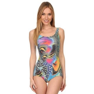 Dippin' Daisy's Multi Aqua One Piece Missy Bathing Suit