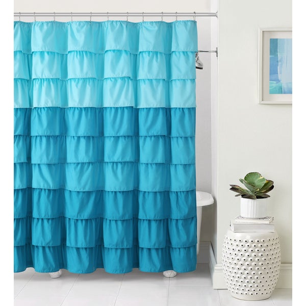 VCNY Sally Ruffle Shower Curtain