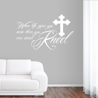 Kneel Wall Decal 22 inches wide x 14 inches tall