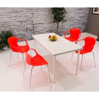 Somette Orange Dining Armchair (Set of 4)