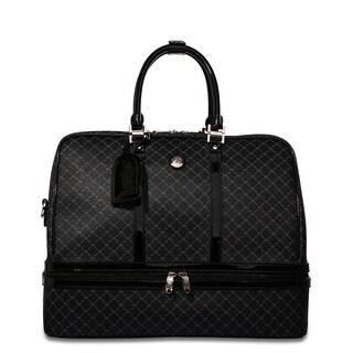 Rioni Signature Shiny Black 18-inch Dome Travel Tote Bag