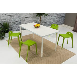 Somette Green Backless Dining Chair (Set of 4)