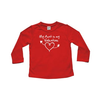 Rocket Bug 'My Aunt is my Valentine' Baby and Toddler Tee