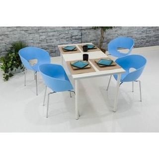 Somette Blue Bucket Chair (Set of 4)