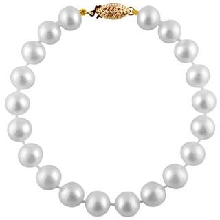 14k Gold Freshwater Pearl Bracelet (7-8 mm)