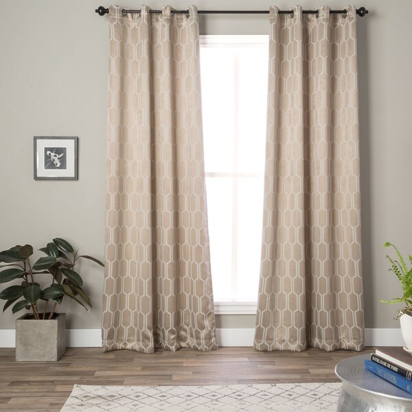 EverRouge Geometric Solar Blackout Curtain Panel