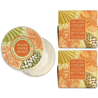 Island Ginger and Mango Botanical Spa Soap and Body Butter Set