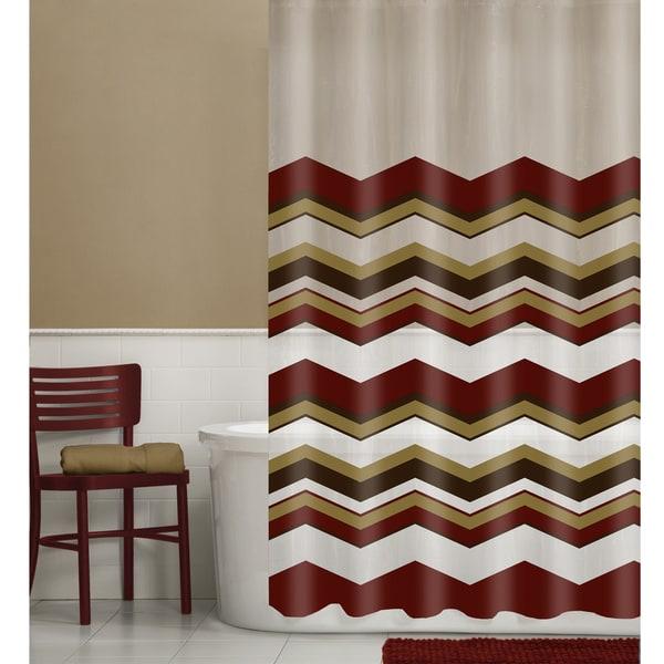 Maytex Chevron Vinyl Shower Curtain 13-piece Set