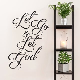 Let Go and Let God Wall Decal 34-inch Wide x 48-inch Tall