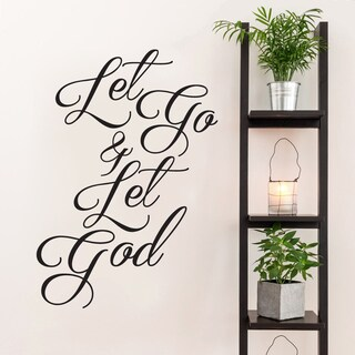 Let Go and Let God Wall Decal 42-inch Wide x 60 inches tall
