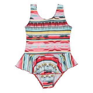 Dippin' Daisy's Girls' Mint Tribal One Piece Swimdress