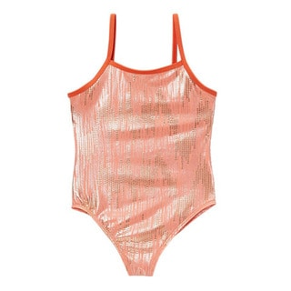 Dippin' Daisy's Girls' Peach Mermaid One Piece