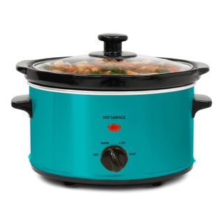 Stainless Steel 2-quart Oval Slow Cooker with 3 Heat Settings (4 options available)