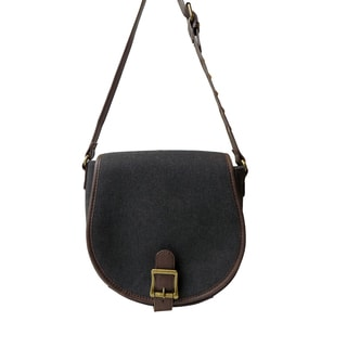 Olivia Miller 'Sadie' Studded Strap Canvas Crossbody Bag