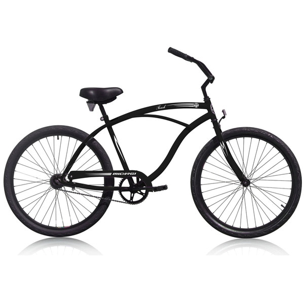 Men'sTouch 26-inch Black Beach Cruiser