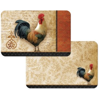 Counterart Reversible Decofoam Rooster Placemats (Set of 4)