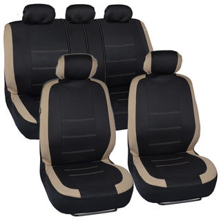 BDK Venice Series Beige Car Seat Covers Side Air Bag Safe
