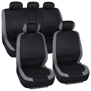 BDK Venice Series Grey Car Seat Covers Side Air Bag Safe