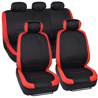 BDK Venice Series Red Car Seat Covers Side Air Bag Safe