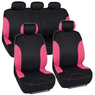 BDK Car Seat Covers Pink Split Option and Side Air Bag Safe