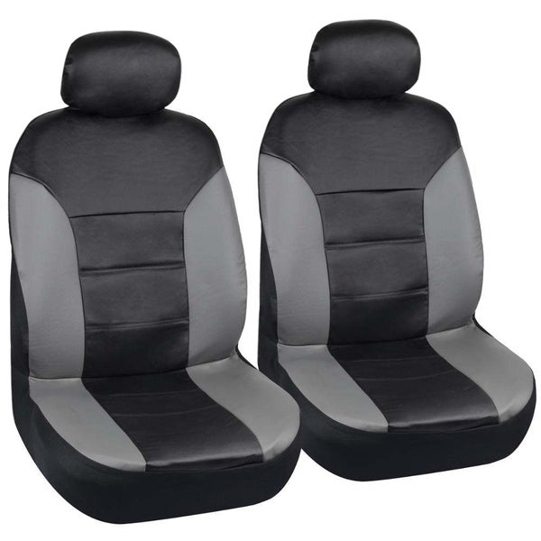 Shop Motor Trend Two Tone Pu Leather Car Seat Covers Black