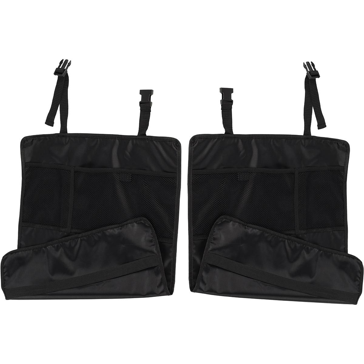 Oxgord Deluxe Car Seat Cover Kick Mats (Set of 2) (Black ...