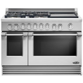 DCS Professional Series 48-inch Pro-Style Slide-In LP Gas Range with griddle And 24-inch double dish