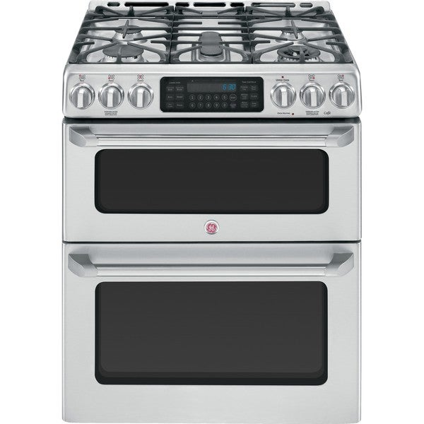 shop ge cafe series cgs990setss 30 inch slide in double oven gas range free shipping today. Black Bedroom Furniture Sets. Home Design Ideas
