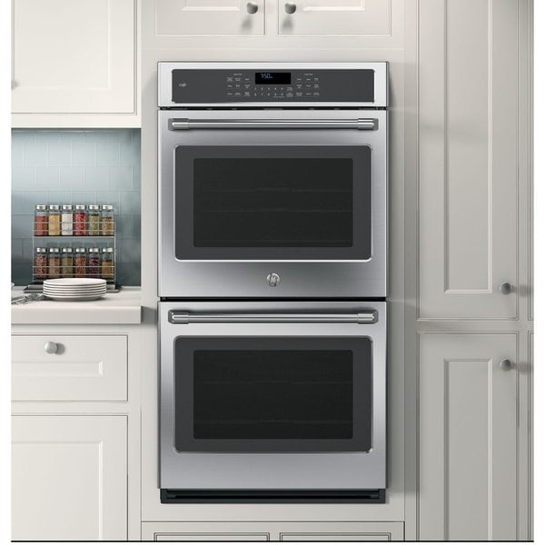 Ge Cafe Series Ck7500shss 27 Inch Double Electric Wall Oven Stainless Steel