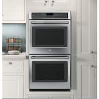 GE Cafe Series CK7500SHSS 27-inch Double Electric Wall Oven - Stainless Steel