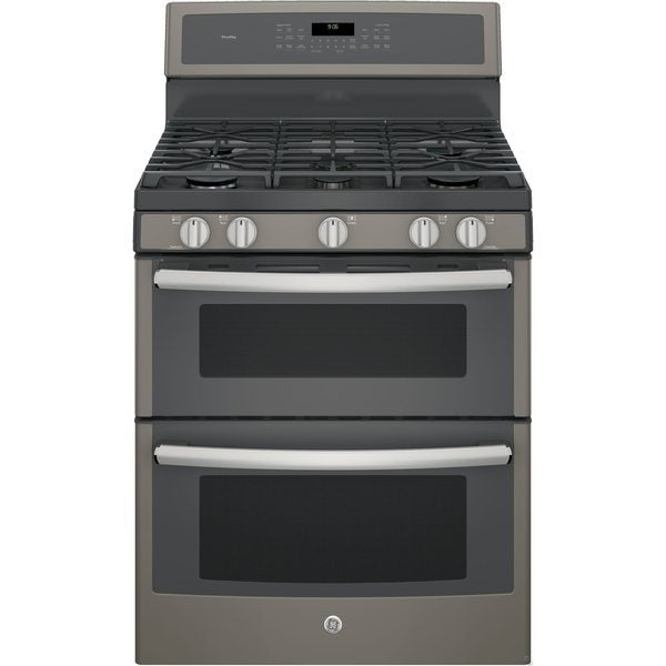 Ge Profile Pgb960eejes 30 Inch Freestanding Double Oven Gas Range With Griddle Silver