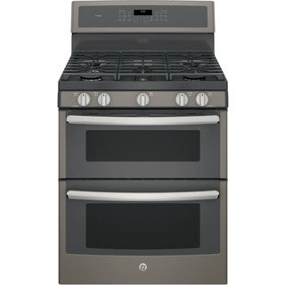 GE Profile PGB960EEJES 30-inch Freestanding Double Oven Gas Range with Griddle