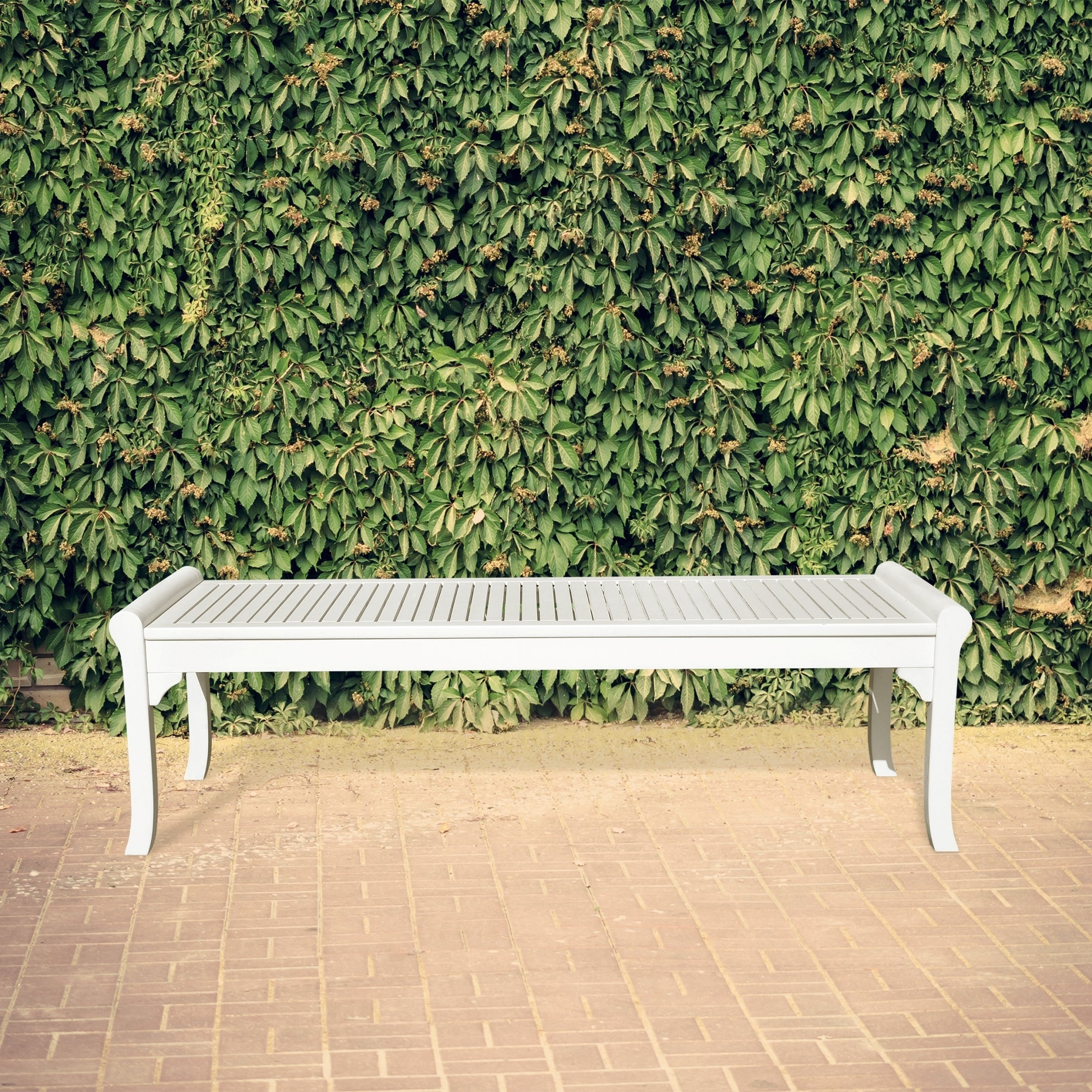 coast cfm coral white hayneedle crossweave bench product ft back metal garden curved