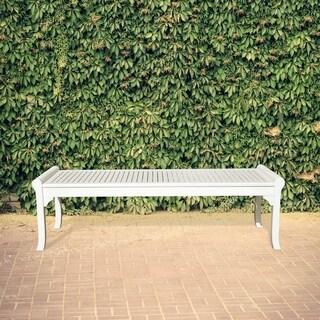 The Gray Barn Bluebird 5-foot White Outdoor Wood Bench