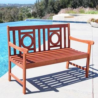 Malibu Eco-friendly 4-foot Outdoor Hardwood Garden Bench