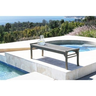 Surfside Eco-friendly 5-foot Backless Outdoor Hand-scraped Hardwood Garden Bench by Havenside Home