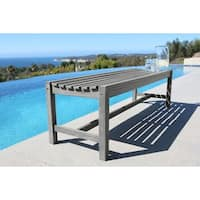 Havenside Home Surfside Eco-friendly 5-foot Backless Outdoor Hand-scraped Hardwood Garden Bench