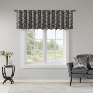 Madison Park Marcel Embroidery Taffeta Valance