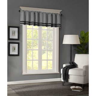 Madison Park Dune Microsuede Striped Window Valance
