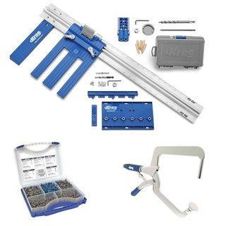 Kreg DIY Project Kit with Kreg SK03 Pocket-Hole Screws + Right Angle Clamp