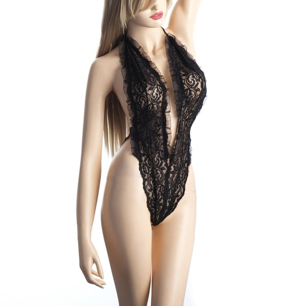 697e65e74 Shop Zodaca Women s Black Lace Dress Lingerie with G String - Free Shipping  On Orders Over  45 - Overstock - 11169354