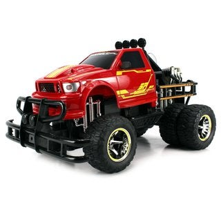 Velocity Toys Jungle Fire TG-4 Dually Electric RC Monster Truck Big 1:12 Scale RTR with Dual Rear Wheels
