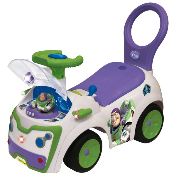Kiddieland Disney Toy Story Buzz Lightyear Light and Sound Activity Ride-On