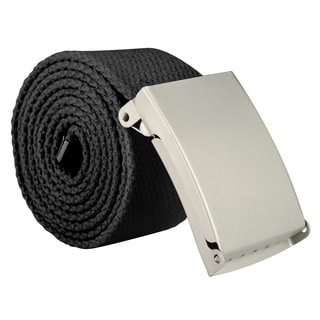 Zodaca Men's Plain Adjustable Canvas Belt