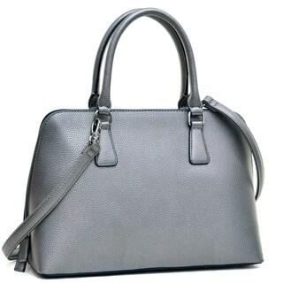 Dasein Buffalo Faux Leather Zip-Around Handbag Satchel Bag (4 options available)