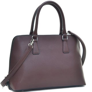 Dasein Buffalo Faux Leather Zip-Around Handbag Satchel Bag (4 options available)