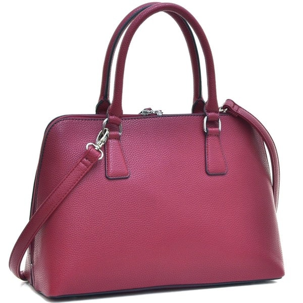 Dasein Buffalo Faux Leather Zip-Around Handbag Satchel Bag. Opens flyout.