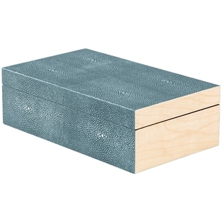 Safavieh Couture Collection Nova Shagreen Faux Stingray Teal Storage Box