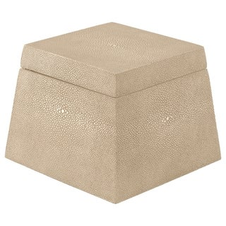 Safavieh Couture High Line Collection Bridie Shagreen Faux Stingray Beige Storage Box